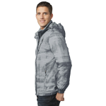 Grey Port Authority Brushstroke Print Insulated Jacket as seen from the sleeveright