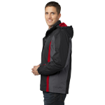 Blk Mag Gy Red Port Authority Colorblock 3-in-1 Jacket as seen from the sleeveright