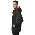 Blk Magnet Gry Port Authority Cascade Waterproof Jacket as seen from the sleeveright