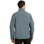 Atlblue Chrome Port Authority Glacier Soft Shell Jacket as seen from the back