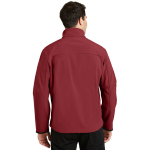 Cald.red Chrom Port Authority Glacier Soft Shell Jacket as seen from the back