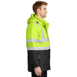 Sfty Ylw Black Port Authority ANSI 107 Class 3 Safety Heavyweight Parka as seen from the sleeveright