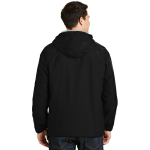 Black Ltoxf Port Authority Team Jacket as seen from the back