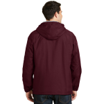 Maroon Ltoxf Port Authority Team Jacket as seen from the back