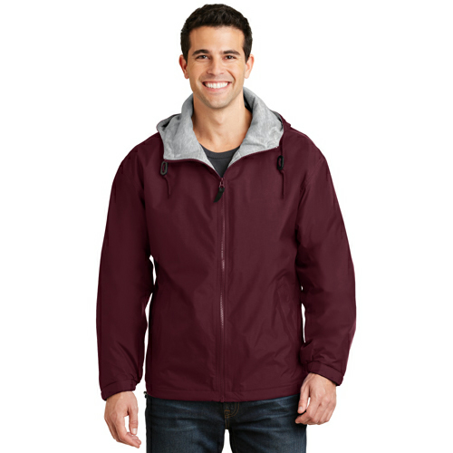Maroon Ltoxf Port Authority Team Jacket as seen from the front