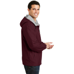 Maroon Ltoxf Port Authority Team Jacket as seen from the sleeveright