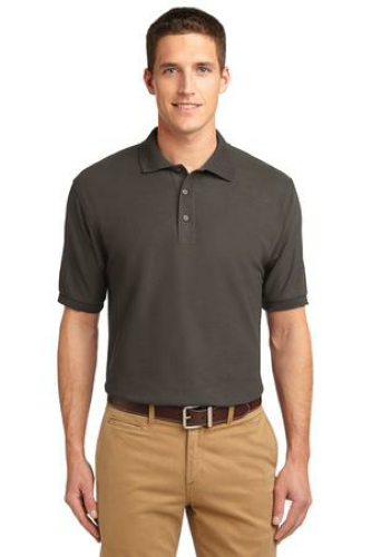 Bark Port Authority Silk Touch Polo as seen from the front