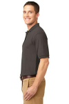 Bark Port Authority Silk Touch Polo as seen from the sleeveleft