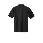 Black Port Authority Silk Touch Polo as seen from the back