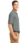 Cool Grey Port Authority Silk Touch Polo as seen from the sleeveright