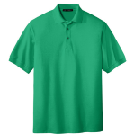 Court Green Port Authority Silk Touch Polo as seen from the front