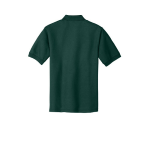 Dark Green Port Authority Silk Touch Polo as seen from the back