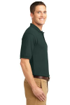 Dark Green Port Authority Silk Touch Polo as seen from the sleeveright