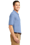 Light Blue Port Authority Silk Touch Polo as seen from the sleeveright
