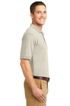 Light Stone Port Authority Silk Touch Polo as seen from the sleeveright