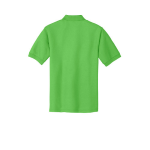Lime Port Authority Silk Touch Polo as seen from the back