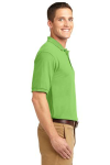 Lime Port Authority Silk Touch Polo as seen from the sleeveright
