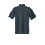 Steel Grey Port Authority Silk Touch Polo as seen from the back
