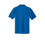 Strong Blue Port Authority Silk Touch Polo as seen from the back
