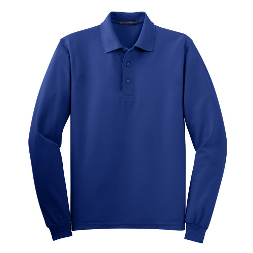 Port Authority Long Sleeve Silk Touch Polo - Embroidered