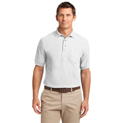 Port Authority Silk Touch Polo with Pocket - Embroidered