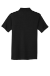 Black Port Authority Silk Touch Interlock Polo as seen from the back