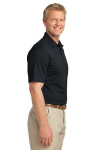 Black Port Authority Tech Pique Polo as seen from the sleeveright