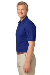 Bright Royal Port Authority Tech Pique Polo as seen from the sleeveleft
