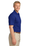Bright Royal Port Authority Tech Pique Polo as seen from the sleeveright