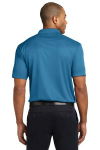 Ocean Blue Port Authority Performance Fine Jacquard Polo as seen from the back