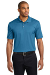 Ocean Blue Port Authority Performance Fine Jacquard Polo as seen from the front