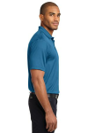 Ocean Blue Port Authority Performance Fine Jacquard Polo as seen from the sleeveright