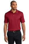 Rich Red Port Authority Performance Fine Jacquard Polo as seen from the front