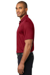 Rich Red Port Authority Performance Fine Jacquard Polo as seen from the sleeveleft