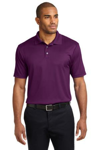 Violet Purple Port Authority Performance Fine Jacquard Polo as seen from the front