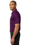 Violet Purple Port Authority Performance Fine Jacquard Polo as seen from the sleeveleft