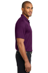 Violet Purple Port Authority Performance Fine Jacquard Polo as seen from the sleeveright