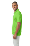 Lime Port Authority Silk Touch Performance Polo as seen from the sleeveleft