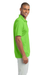 Lime Port Authority Silk Touch Performance Polo as seen from the sleeveright
