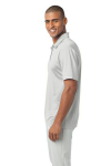 White Port Authority Silk Touch Performance Polo as seen from the sleeveleft