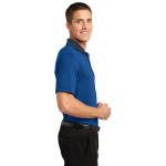 Seap Bl Db Nvy Port Authority Fine Stripe Performance Polo as seen from the sleeveright