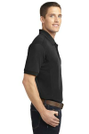 Black Port Authority 5-in-1 Performance Pique Polo as seen from the sleeveright