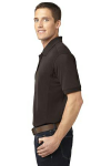 Choc Brown Port Authority 5-in-1 Performance Pique Polo as seen from the sleeveleft