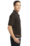 Choc Brown Port Authority 5-in-1 Performance Pique Polo as seen from the sleeveright