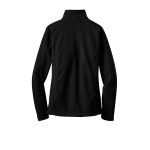Black Port Authority Ladies Value Fleece Jacket as seen from the back