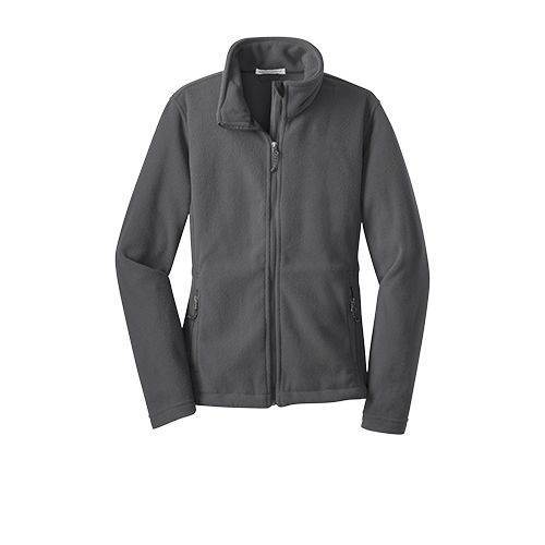 Iron Grey Port Authority Ladies Value Fleece Jacket as seen from the front