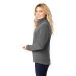 Iron Grey Port Authority Ladies Value Fleece Jacket as seen from the sleeveright