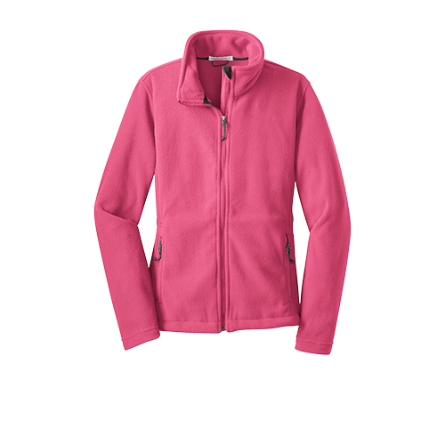 Pink Blossom Port Authority Ladies Value Fleece Jacket as seen from the front