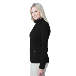 Black Port Authority Ladies Pique Fleece Jacket as seen from the sleeveright