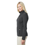 Graphite Port Authority Ladies Pique Fleece Jacket as seen from the sleeveright